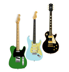 guitar collection vector image