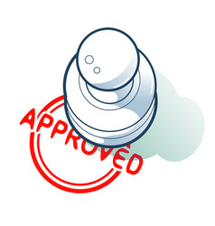 Is approved by a stamp concept vector