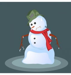 Melting snowman vector