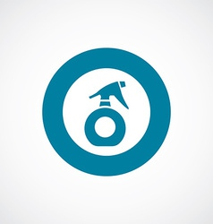 Sprayer icon bold blue circle border vector