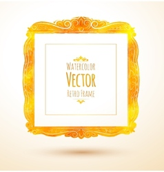 Watercolor vintage frame vector