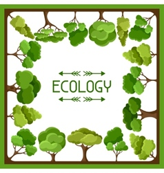 Ecology background design with abstract stylized vector