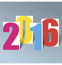 2016 creative happy new year background vector