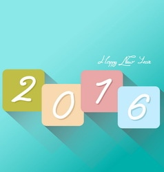 Colorful new year 2016 greeting card vector