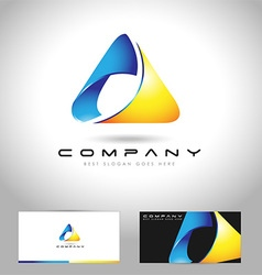 Triangle logo concept vector