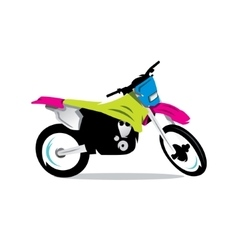 Motocross bike cartoon vector