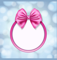 pink ribbon bow vector image