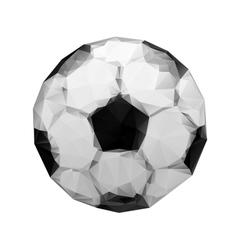 Abstract geometric polygonal football Soccer ball vector image vector image