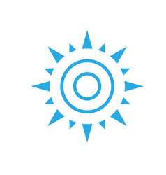Abstract simple sun icon isolated on white backgro vector