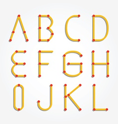 alphabet dot modern paper cut vector image