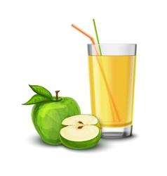 Apple juice glass vector image