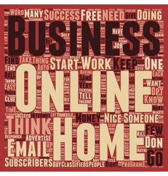 Basic Online Business Techniques text background vector image vector image
