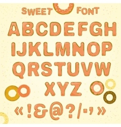 Beautiful Sweet font vector image