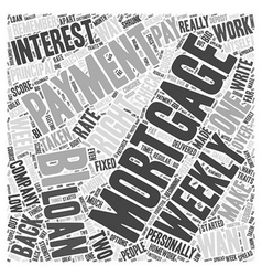 bi weekly mortgage payment Word Cloud Concept vector image vector image