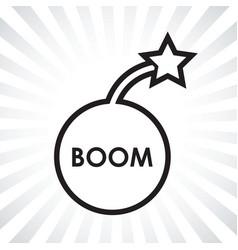 boom bomb icon vector image