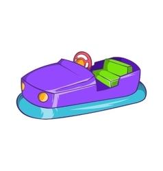 Bumper car in amusement park icon cartoon style vector