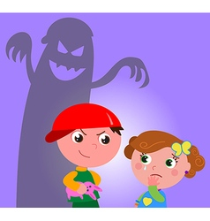 Child bully vector image