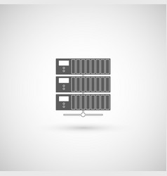 computer server icon flat design vector image vector image