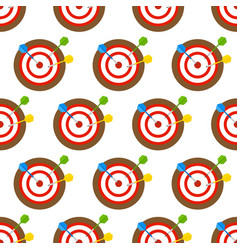 Dartboard and arrows seamless pattern vector