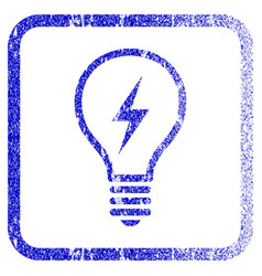 electric bulb framed textured icon vector image