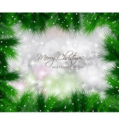 Elegant Classic Christmas Background with baubles vector image