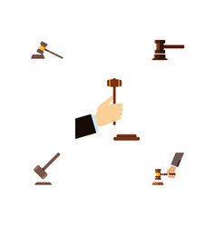 Flat icon court set of law court tribunal and vector