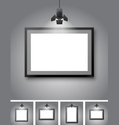 gallery room vector image