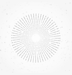 hipster abstract retro radial sunburst starburst vector image