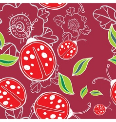 lady bird pattern vector image vector image