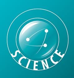 Logo atoms fly in sphere vector