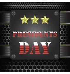 Metal Presidents Icon vector image vector image