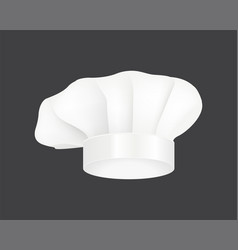 modern white chef hat restaurant uniform costume vector image vector image