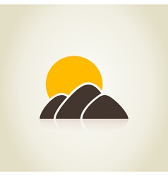 Mountain4 vector image vector image