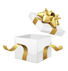 opened gift box vector image