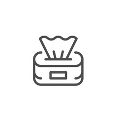 Paper napkins line icon vector