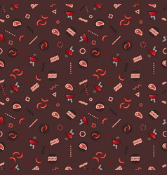 Pattern barbecue party weekend grill food vector
