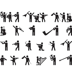 Pictogram people singing vector image vector image