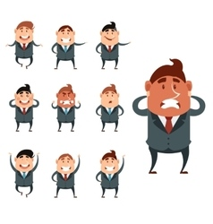 Set of business men vector image