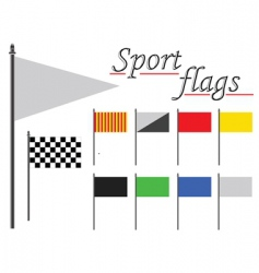 sport flags against white vector image vector image