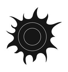 Sun icon in black style isolated on white vector image
