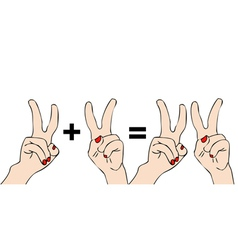 Two plus two equals four vector