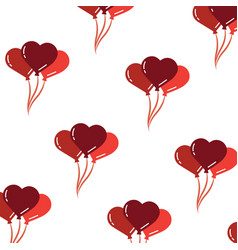 valentines balloons decoration hearts seamless vector image vector image
