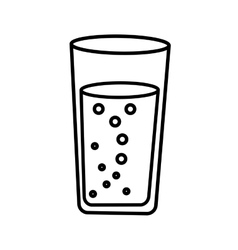 Water glass drawing icon vector