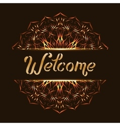 Welcome with mandala design vector image vector image