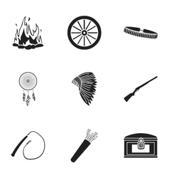 Wild west set icons in black style big collection vector