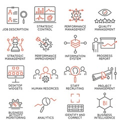 Strategy management system icons - 2 vector