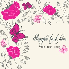 rich floral card vector image