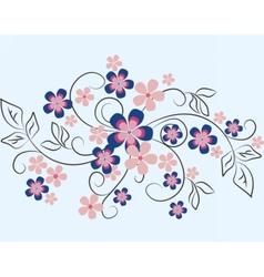 Natural floral ornament vector