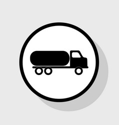 Car transports sign  flat black icon in vector