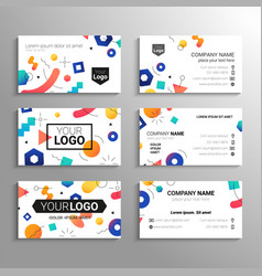 Business cards - template abstract vector
